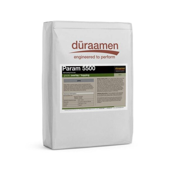 nbspParam 5500 SelfLeveling Concrete Overlay Topping | Duraamen Engineered Products Inc