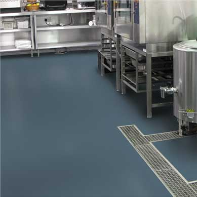 Urethane modified concrete flooring in a commercial kitchen