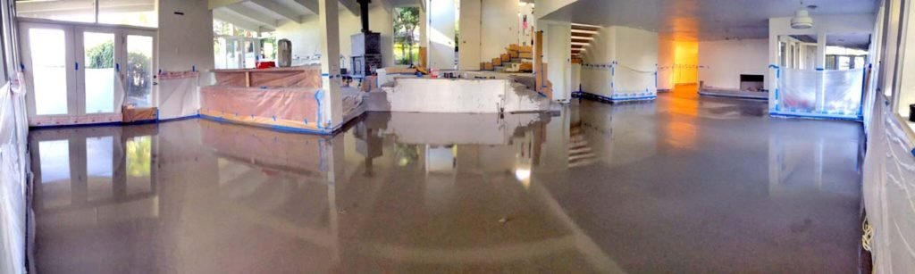 Remodeling a Residence with concrete overlay flooring