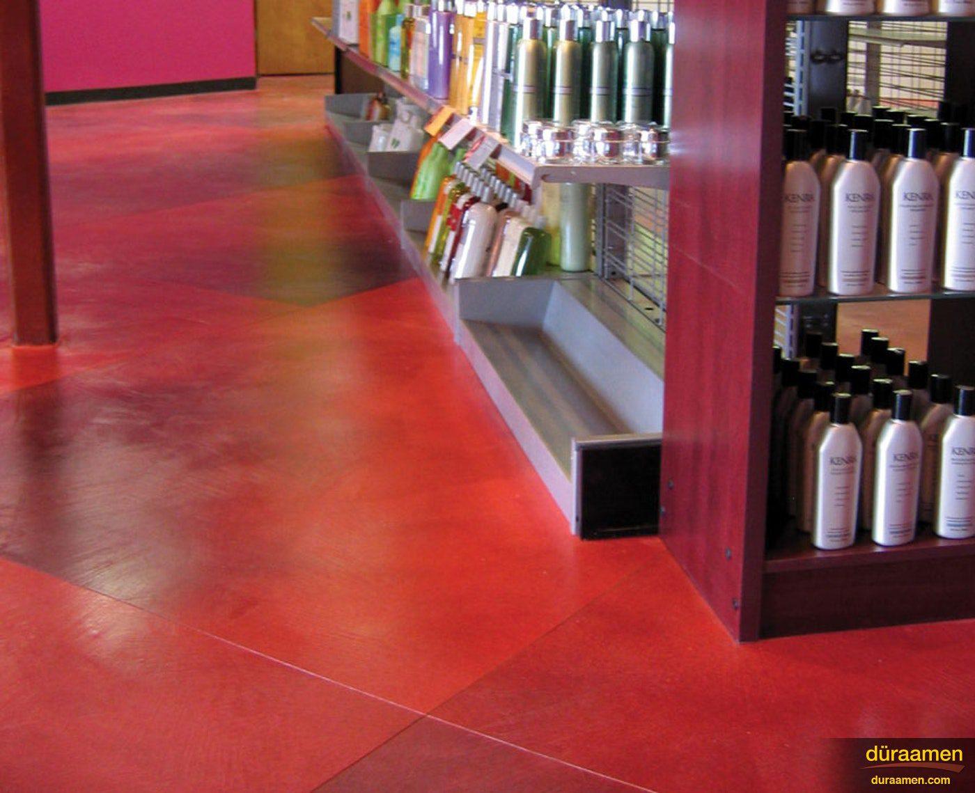 beutysupplysalon1nbspStained Concrete Floor in a Beauty Salon   Duraamen Engineered Products Inc