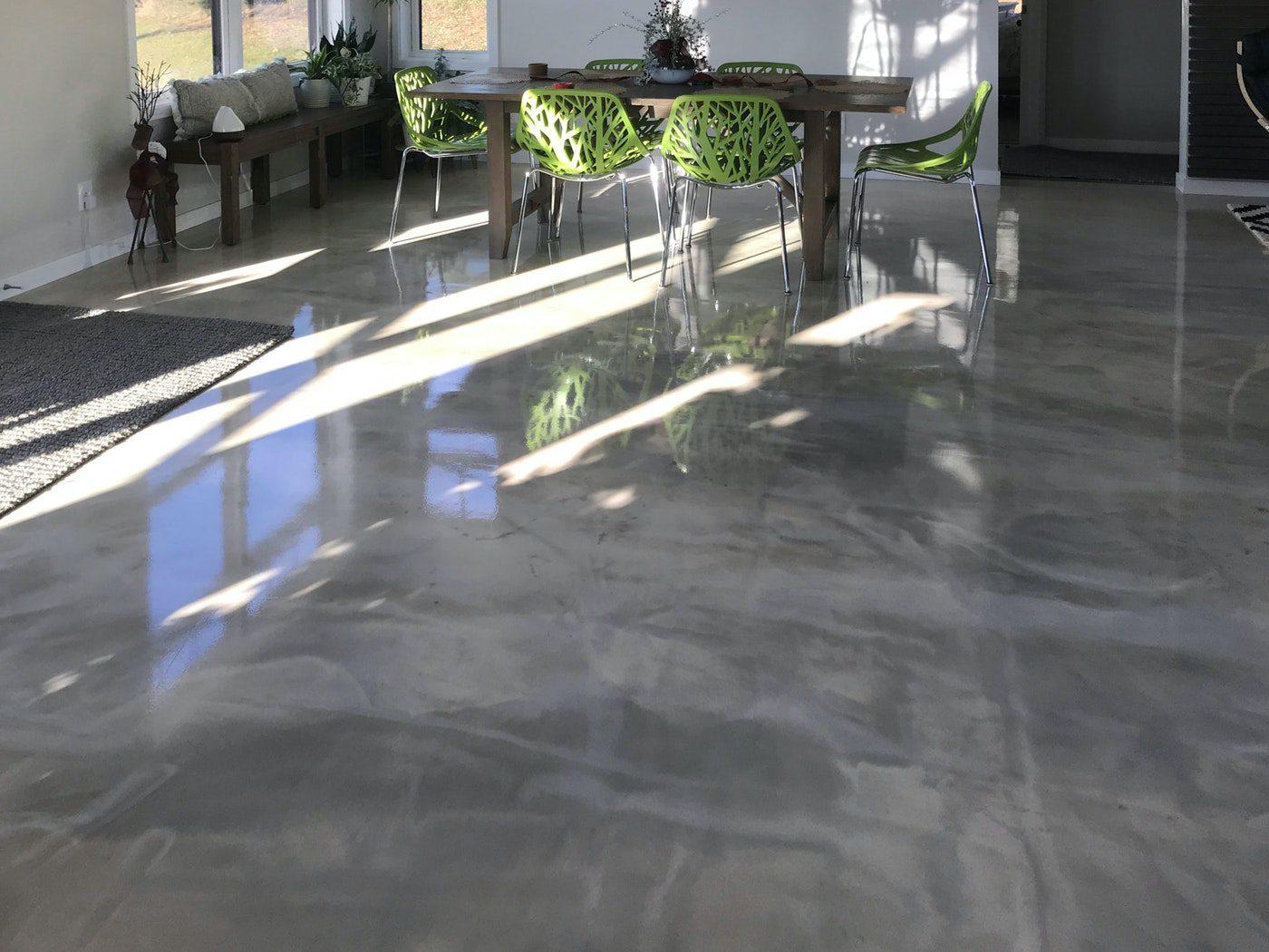 DIY Homeowner Metallic Epoxy Floor 04nbspDIY Homeowner Installs Designer Metallic Epoxy Floor Coating Throughout Home | Duraamen | Duraamen Engineered Products Inc