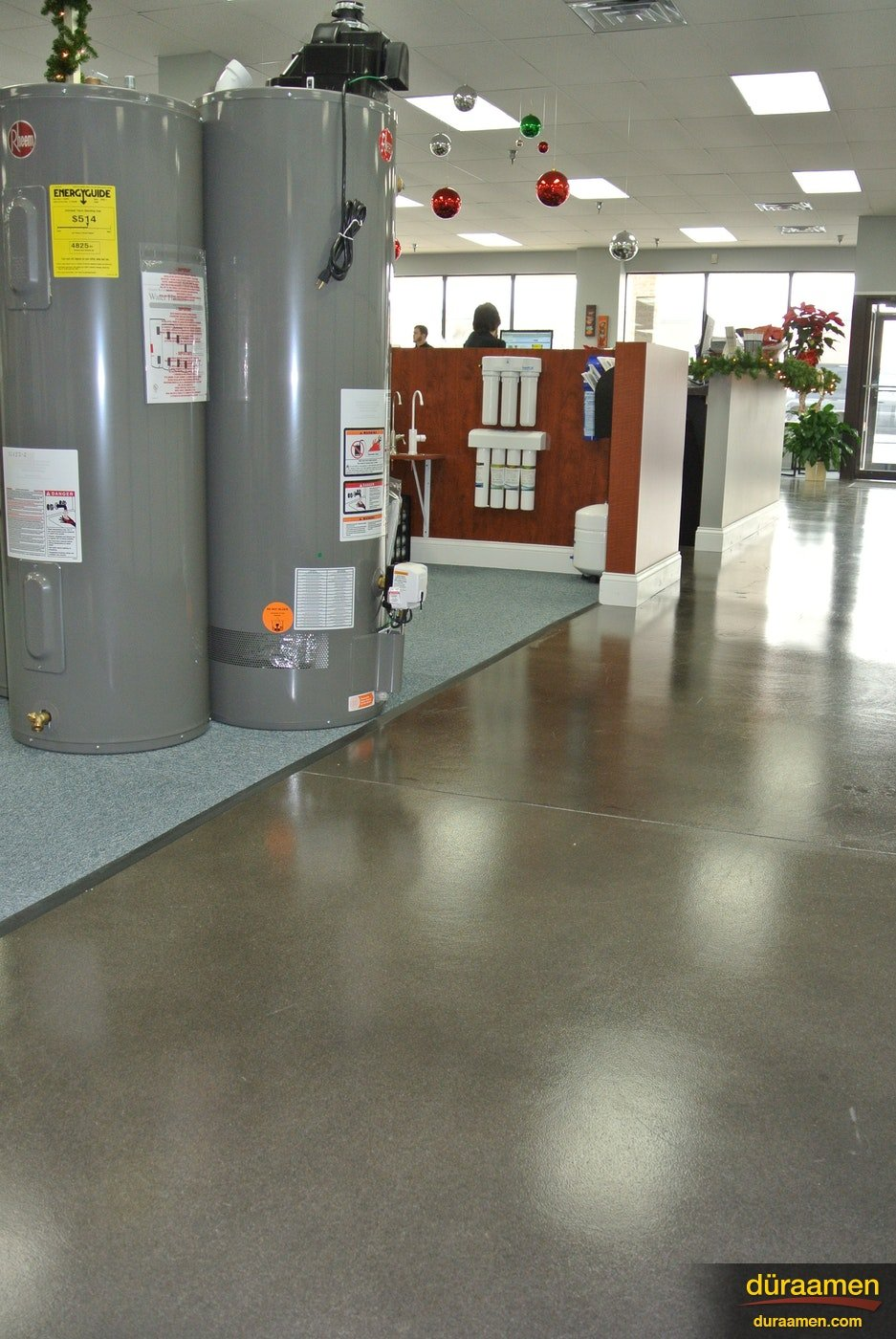 Pure clean easy to maintain polished concretenbspPolished Concrete Floor in a Appliance Store Lancaster PA | Duraamen Engineered Products Inc