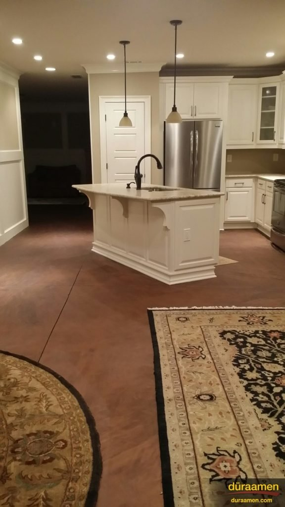 This concrete resurfacing project in Atlanta, GA was completed by a do it yourselfer.