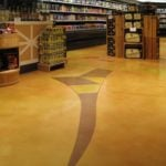 Grocery Store, Hienen's, Hudson, OH, concrete microttopping floor